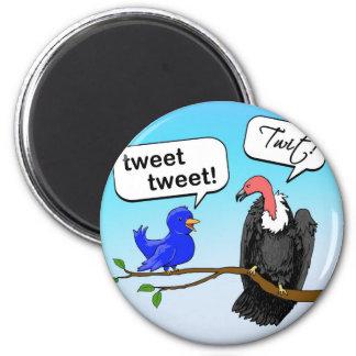 Twit 6 Cm Round Magnet