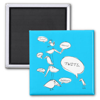 Twits Square Magnet