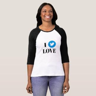 Twitter 3/4 Sleeve Raglan T-Shirt
