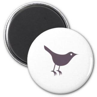 Twitter 6 Cm Round Magnet