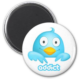 Twitter Addict 6 Cm Round Magnet