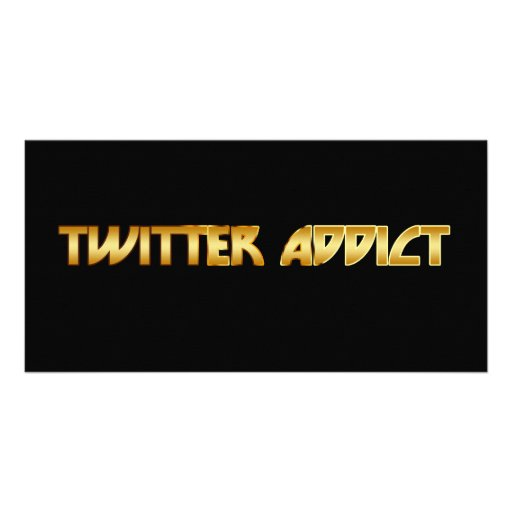 Twitter Addict Photo Cards