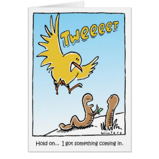 Twitter Bird Birthday Card