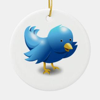 Twitter bird logo christmas ornament