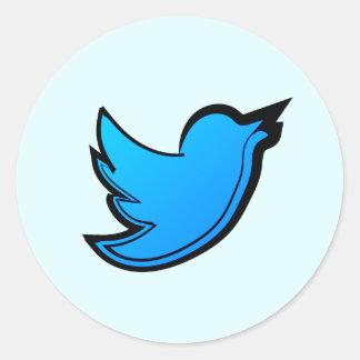 Twitter Bird Round Sticker