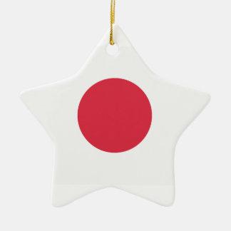 Twitter Emoji - Japan Flag Ceramic Star Decoration
