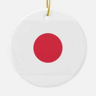 Twitter Emoji - Japan Flag Round Ceramic Decoration