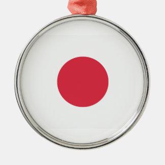 Twitter Emoji - Japan Flag Silver-Colored Round Decoration