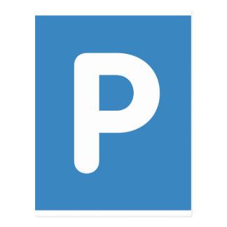 Twitter emoji Letter P Postcard