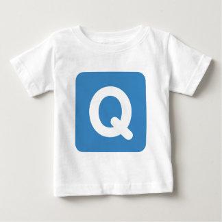 Twitter emoji letter Q Baby T-Shirt