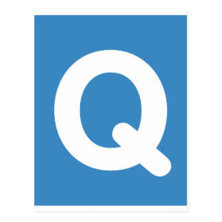 Twitter emoji letter Q Postcard