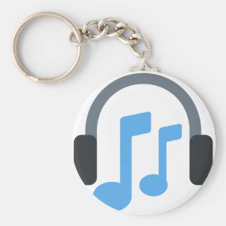 Twitter emoji - Music, Headphone Key Ring