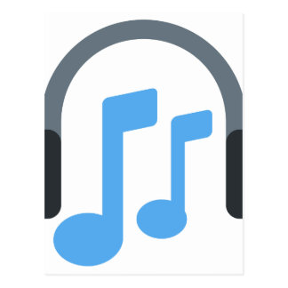 Twitter emoji - Music, Headphone Postcard