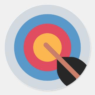 Twitter Emoticon - target archery Round Sticker
