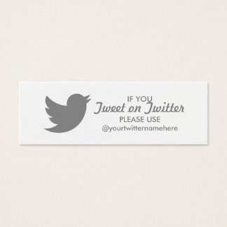 twitter event mini business card