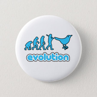 Twitter evolution 6 cm round badge