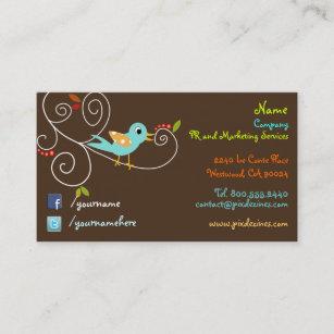 Facebook icon business cards zazzle uk twitterfacebook business cards colourmoves