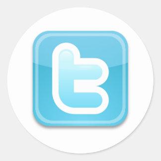 Twitter-ish Round Sticker