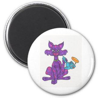 Twitter kitty 6 cm round magnet