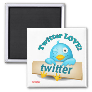 Twitter LOVE Apparel,Gifts & Collectibles Square Magnet
