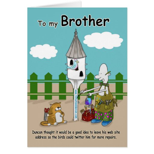 twitter me funny Brother Birthday card | Zazzle