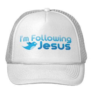 Twitter me I m Following Jesus Christ Mesh Hat