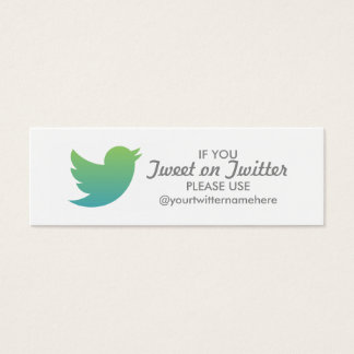 twitter promo mini business card