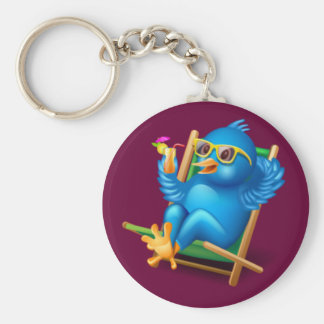 Twitter Relax Basic Round Button Key Ring