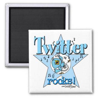 Twitter Rocks magnet