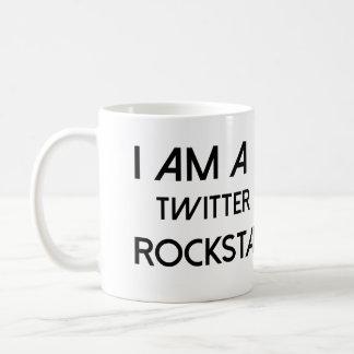Twitter Rockstar Basic White Mug