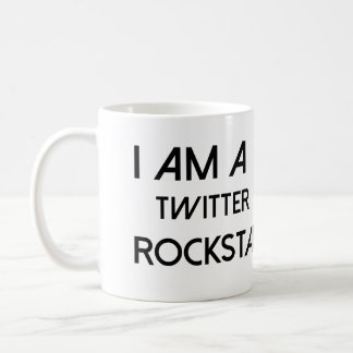 Twitter Rockstar Classic White Coffee Mug