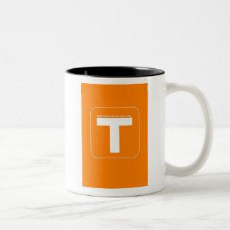 Twitter Social Media Two-Tone Mug