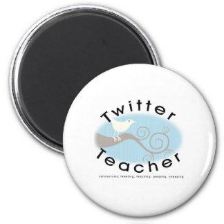 Twitter Teacher 6 Cm Round Magnet
