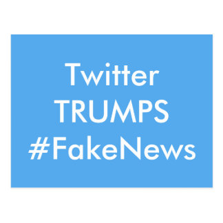 Twitter Trumps Fake News Postcard