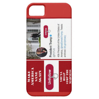 Twitter Unfollow Trump phone case