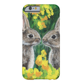 Twitterpated- a portrait of two bunnies barely there iPhone 6 case