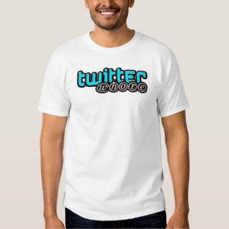 Twitterwhore Ladies Cotton Spandex Top Shirt