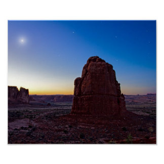 Twlight in Arches Posters