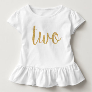Two. 2nd Birthday. Toddler T-Shirt
