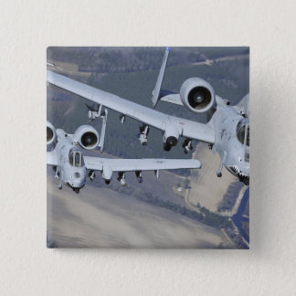 Two A-10C Thunderbolt II aircraft fly in format 15 Cm Square Badge