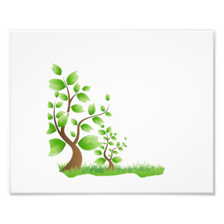 two abstract trees left corner eco design.png photo art