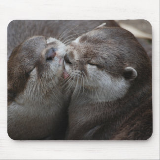Two Adorable Otters Mouse Mat