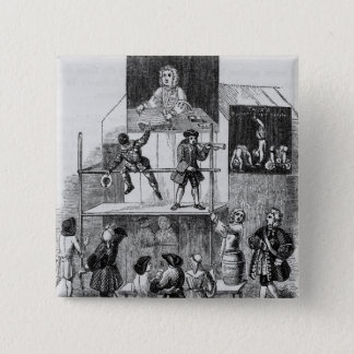 Two Adverts Relating to Faux, the Conjurer 15 Cm Square Badge