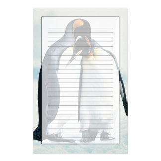 Two affectionate penguins stationery