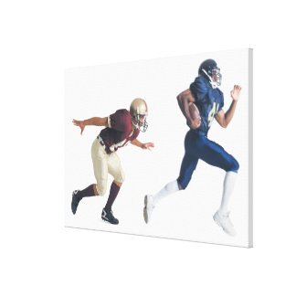 two african american american football players canvas prints