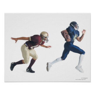 two african american american football players poster