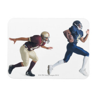 two african american american football players rectangular photo magnet