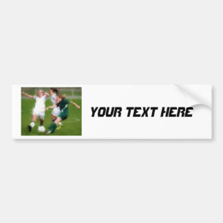 Two Against One Soccer Battle Bumper Stickers
