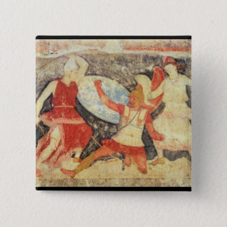 Two Amazons in combat with a Greek 15 Cm Square Badge
