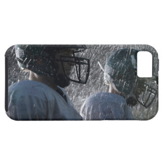 Two American football players in rain, side view iPhone 5 Covers